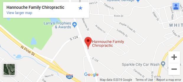 Chiropractic Spartanburg SC Map